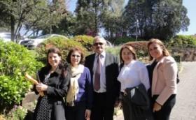 Reunião em Gramado 2012 Presidente Valberto Lira, Aparecida Gugel, Rebecca Nunes e Cristinae Branquinho