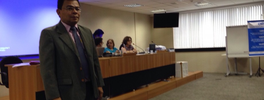 Dr. Waldir Macieira Filho durante a eleição (08/10/14) na sede dos Direitos Humanos em Brasília para compor as vagas disponíveis no CNDI