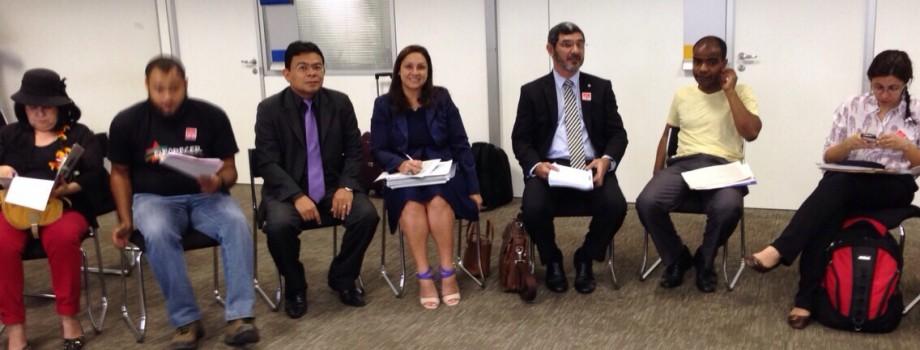 AMPID marca presença no Encontro Nacional (15/09/14) junto à sociedade civil para discutir a eleição no CNDH. Vice-Presidente, Dr. Waldir Macieira Filho e a Presidente da AMPID, Dra. Iadya Gama Maio