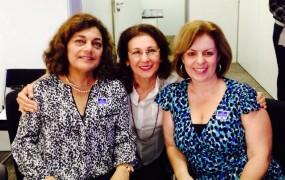 Dra. Sandra Maria Ferreira de Souza, Dra. Maria Aparecida Gugel e Dra. Claudia Maria Beré durante a posse da AMPID no dia 31/10/2014 junto ao CNDI